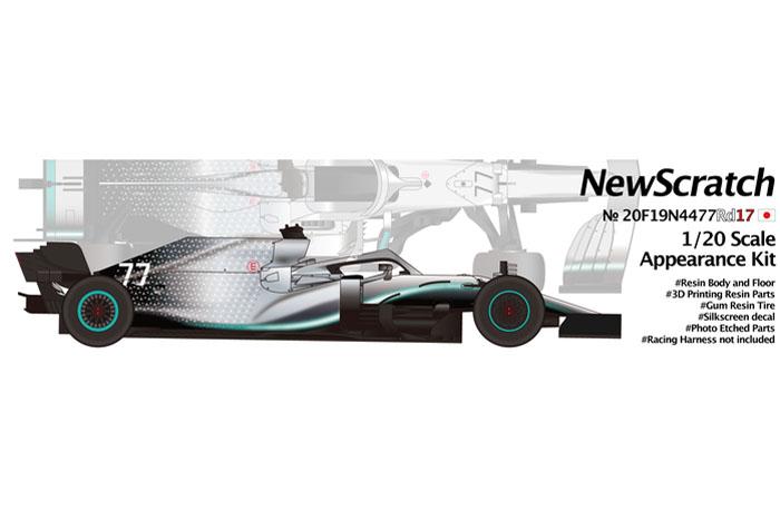 ** 予約商品 ** NewScratch 20F19N4477Rd17 1/20kit F1 W10 2019 n.44/77 Rd.17 Japanese GP