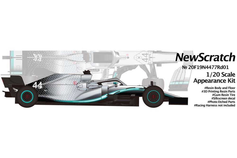 NewScratch 20F19N4477Rd1 1/20kit F1 W10 2019 n.44/77 Rd.1 Australian GP