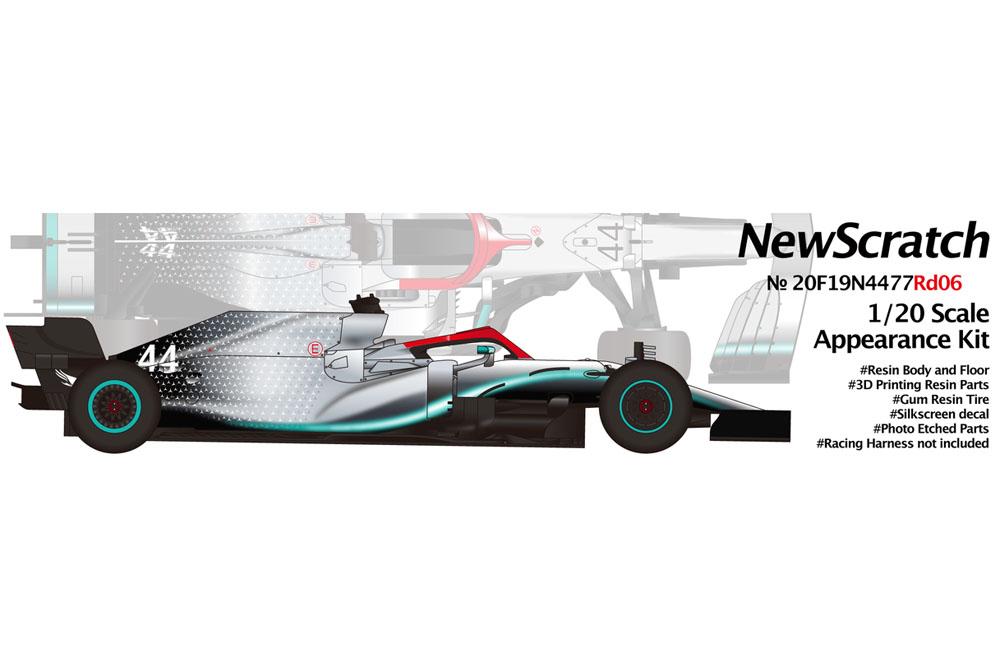 【お取り寄せ商品】 NewScratch 20F19N4477Rd6 1/20kit F1 W10 2019 n.44/77 Rd.6 Monaco GP