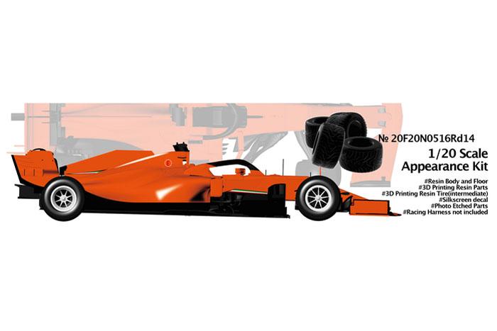 NewScratch 20F20N0516Rd14 1/20kit F1 SF1000 2020 n.5/16 Rd.14 Turkish GP