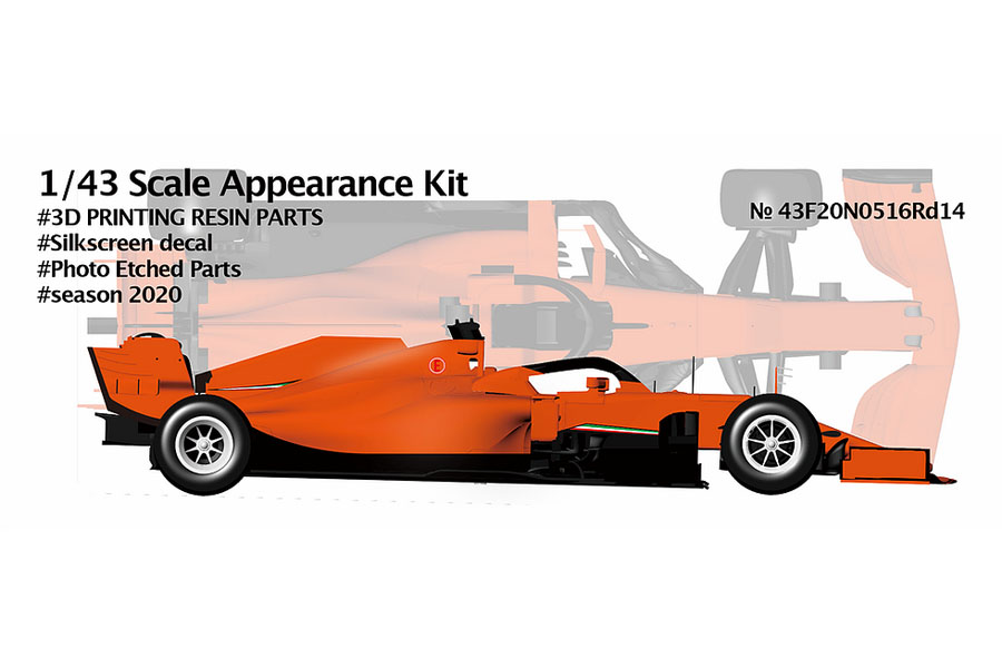NewScratch 43F20N0516Rd14 1/43kit F1 SF1000 2020 n.05/16 Rd.14 Turkey GP
