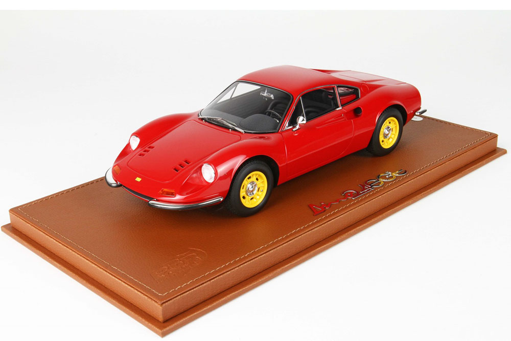 BBR P18150GV 1/18 Ferrari Dino 246 GT TIPO 607L 1969 Red /Yellow wheels Limited 24pcs (ケース付)