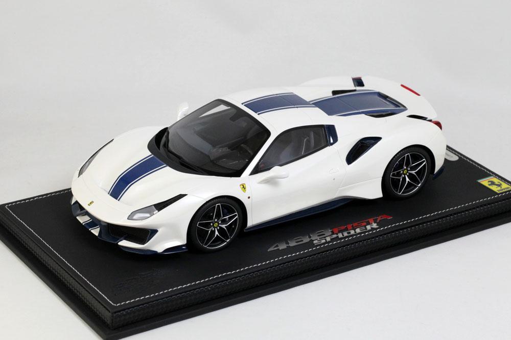 ** 予約商品 ** BBR P18163AV 1/18 Ferrari 488 PISTA Spider Roof closed Metal Bianco Italia Limited 28pcs (ケース付)