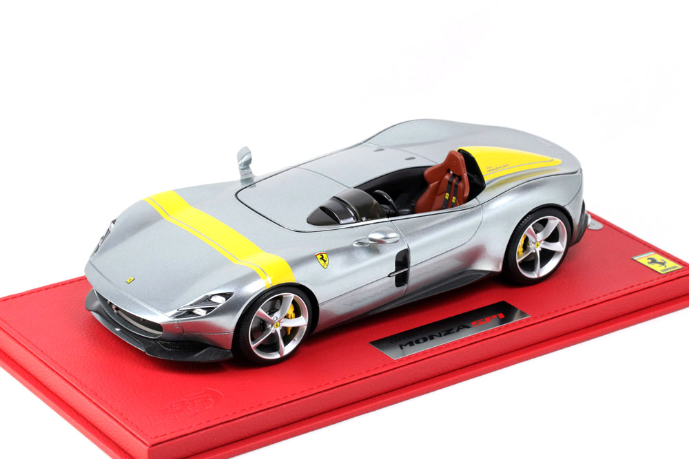 BBR P18164AV 1/18 Ferrari Monza SP1 Metal Grey Limited 440pcs (ケース付)