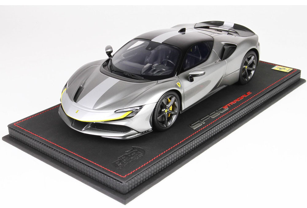 BBR P18180RAV 1/18 Ferrari SF90 Stradale Racing version Met. Iron Grey Limited 229pcs (ケース付)