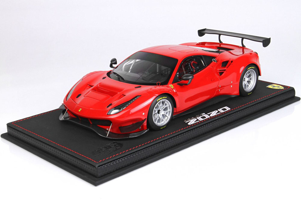 BBR P18187CV 1/18 Ferrari 488 GT3 2020 Rosso Corsa Limited 24pcs (ケース付)