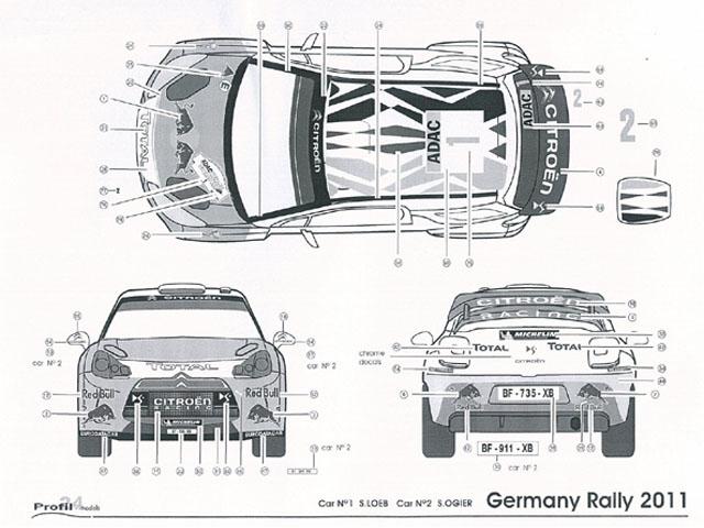 プロフィール P24079 1/24 シトロエン DS3 WRC ドイツラリー 2011