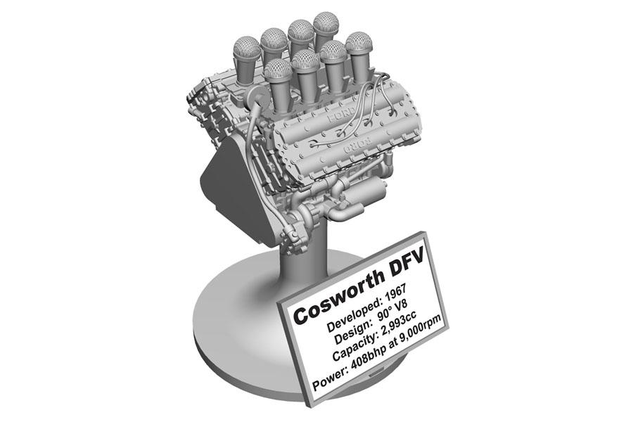 TAMEO kit PG40 Cosworth DFV Engine
