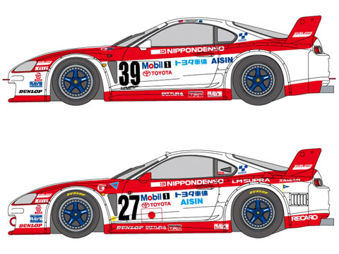 SHUNKO D161 1/24 Toyota Denso Supra 1995 LM&GT 1995 decal set(for Tamiya)