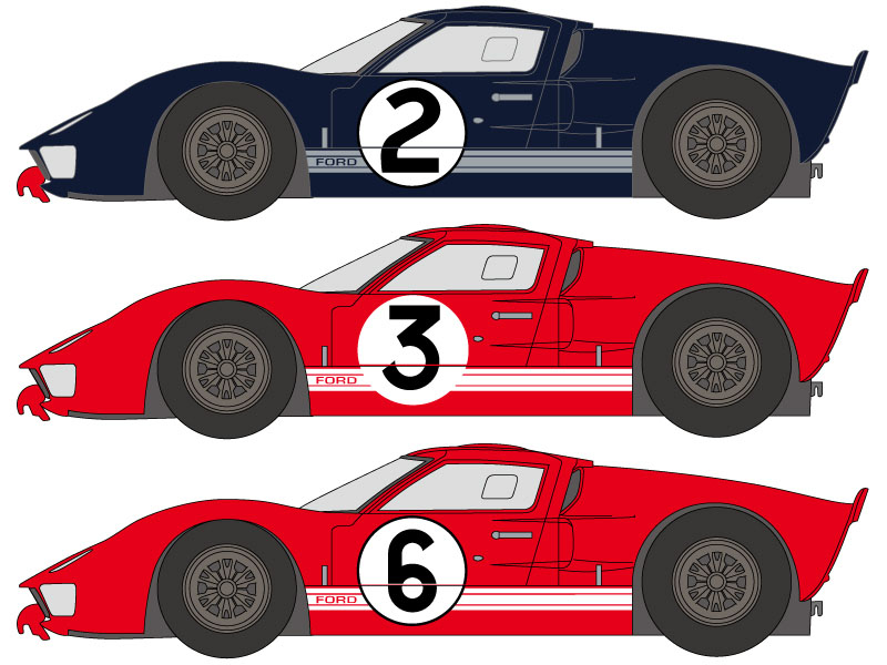 SHUNKO D249 1/24 Ford GT40 1966 LM decal set (for Fujimi) 【メール便可】
