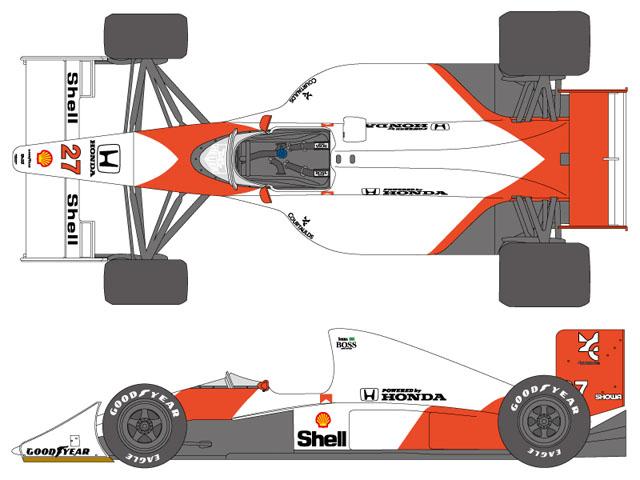 SHUNKO D377 1/20 McLaren MP4/5B 1990 decal set (for Tamiya) 【メール便可】