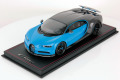 MRコレクション BUG07B 1/18 ブガッティ シロン Sport (Open Wing) Grey Carbon / French Racing Blue