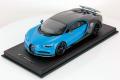 ** 予約商品 ** MRコレクション BUG07B 1/18 ブガッティ シロン Sport (Open Wing) Grey Carbon / French Racing Blue