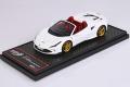 BBRC232G1 Ferrari F8 Spider Bianco Cervino Metal / Gold wheels Limited 24pcs