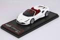 ** 予約商品 **  BBRC232G Ferrari F8 Spider Bianco Cervino Metal / Silver wheels Limited 24pcs