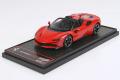 ** 予約商品 ** BBR Deluxe C244CDL Ferrari SF90 Spider Rosso Corsa (Red Leather Base)