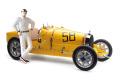 ** 予約商品 ** CMC M-100-B017 1/18 Bugatti T35 1924 Yellow Livery With a Female Racer Figurine Limited Edition 600 pcs