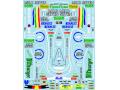** 予約商品 ** Museum collection D1011 1/20 Benetton B195 & Racing suit Decal (Academy) 【メール便可】