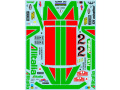 Museum collection D1012 1/20 Fiat 131 1978 Monte carlo Decal (Tamiya) 【メール便可】