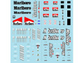 Museum collection D528 1/43 Ferrari Tabacco Decal 641,F300,F2007 (for Mattel) 【メール便可】