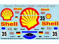 Museum collection D751 1/64 Dauer Porsche 962C 94 LM Shell Decal(Kyosho)【メール便可】