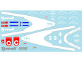 Museum collection D753 1/64 Tyrrell 020B 1992 Decal(Kyosho)【メール便可】