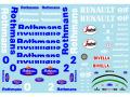 ** 予約商品 ** Museum collection D832 1/20 Williams FW16 Rothmans Decal (Fujimi) 【メール便可】