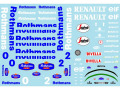 Museum collection D832 1/20 Williams FW16 Rothmans Decal (Fujimi) 【メール便可】