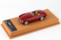 BBR Deluxe 068ADL Ferrari 166MM Barchetta street Dark Red (Beige Leather Base) Limited 20pcs