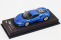 BBR Deluxe C224BDL Ferrari F8 Tributo Geneve 2019 Blu Corsa (Black Leather Base) Limited 21pcs
