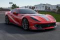 ** 予約商品 ** BBR Deluxe C259B1DL Ferrari 812 Competizione Rosso Corsa / racing silver Nurburgring stripe