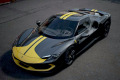 ** 予約商品 ** BBR Deluxe C265ADL Ferrari 296GTB Assetto Fiorano Grigio Coburn / Yellow Stripe