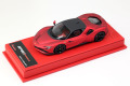 BBR Deluxe CDL327B Ferrari SF90 Stradale Matt F1-2007 Red (Red Leather Base) Limited 15pcs
