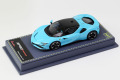 BBR Deluxe CDL329 Ferrari SF90 Stradale Baby Blue (Blue Leather Base) Limited 21pcs