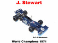 ** 予約商品 ** MERI ELK001 Tyrrell 003 Monaco GP J.Stewart World Champion 1971
