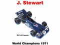 ** 予約商品 ** MERI ELK002 Tyrrell 003 France GP J.Stewart World Champion 1971