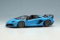 ** 予約商品 ** EIDOLON EM515E Lamborghini Aventador SVJ Roadster 2019 (Nireo wheel) Blue Glauco Limited 40pcs