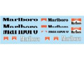 F'artefice デカール FM-0037 1/20 412T2 マルボロデカール HIRO用【メール便可】