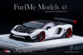 Fuelme Models FM4307-50LE-WN01 1/43 Liberty Walk LB Works Aventador Roadster 50th Limited edition Glacier White