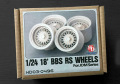 Hobby Design HD03_0496 1/24 18' BBS RS ホイール for Jdm Series