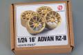 Hobby Design HD03_0567 1/24  16' ADVAN RZ-II Wheels