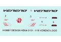 Hobby Design HD04_0151 1/18 ランボルギーニ Veneno Logoe デカール 【メール便可】