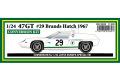 ** 予約商品 ** HSC 008R 1/24 Lotus Type 47GT #29 Brands Hatch 1967 Conversion Kit
