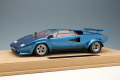 IDEA IM044C 1/18 Lamborghini Countach LP400S 1980 (Series 2) with Rear Wing Metallic Blue