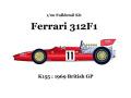 ** 再生産 ** HIRO K155 1/20 Ferrari 312F1 1969 Ver.C British GP