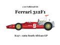** 再生産 ** HIRO K157 1/20 Ferrari 312F1 1969 Ver.E South African GP