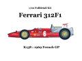 ** 再生産 ** HIRO K158 1/20 Ferrari 312F1 1969 Ver.F French GP
