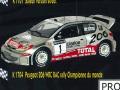 PROVENCE K1704 プジョー 206 WRC RAC rally  W.Champion 2001