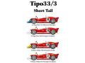 HIRO K203 1/24 アルファロメオ Tipo 33/3 Short TF #14/28 Monza #38/41