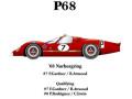 HIRO K220 1/24 フォード P68 Nurbrugring 68 #7/8